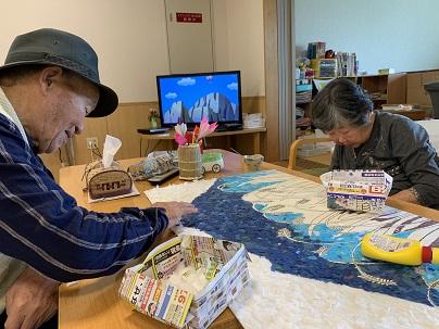 小野里さんと壁画